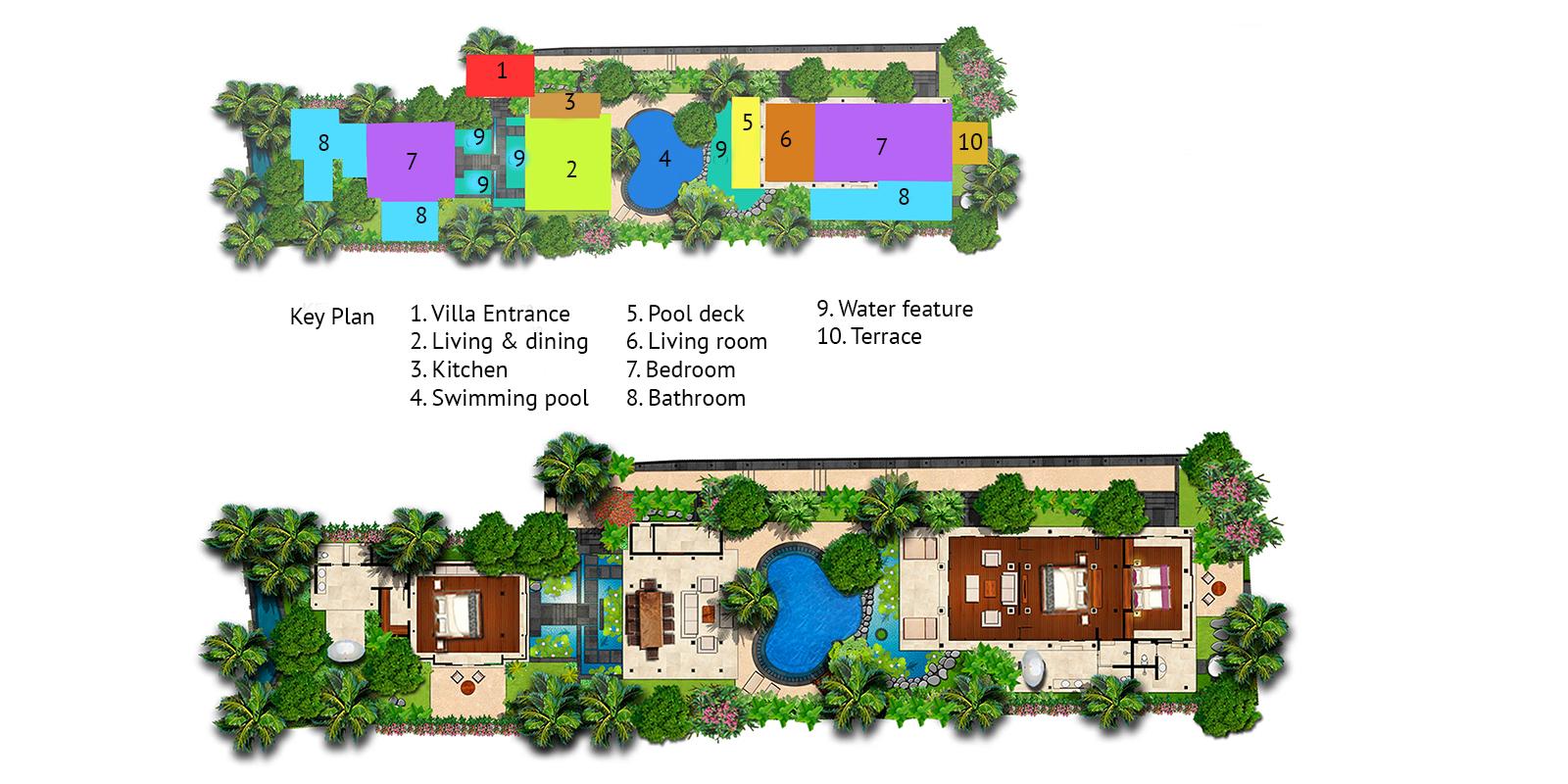 Villa Amy Floor Plan | Canggu, Bali