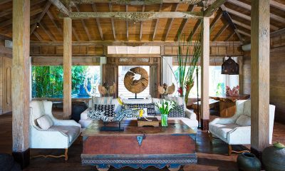 Villa Hansa Indoor Living Area with Wooden Floor | Canggu, Bali