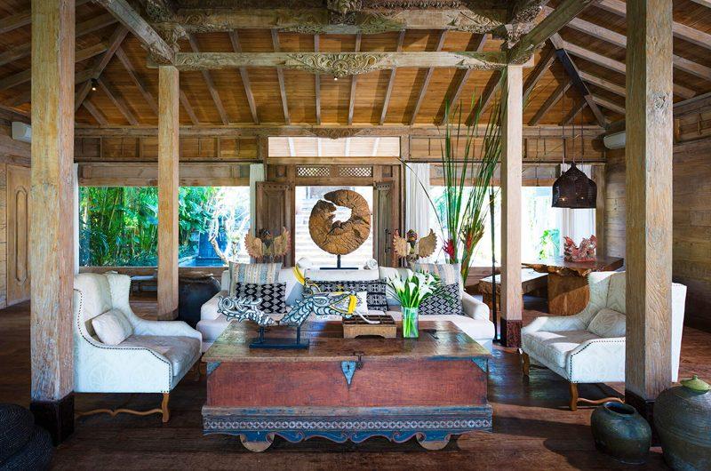 Villa Hansa Indoor Living Area with Wooden Floor   Canggu, Bali