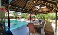Villa Kalimaya Pool Side Outdoor Dining | Seminyak, Bali