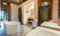 Villa Sayang d'Amour His and Hers Bathroom with Soaking Tub | Seminyak, Bali