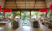 The Sanctuary Bali Living Room with Pool View | Canggu, Bali
