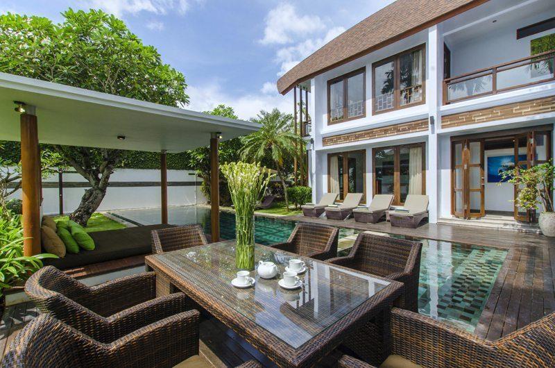 Marys Beach Villa Pool Side Dining | Canggu, Bali