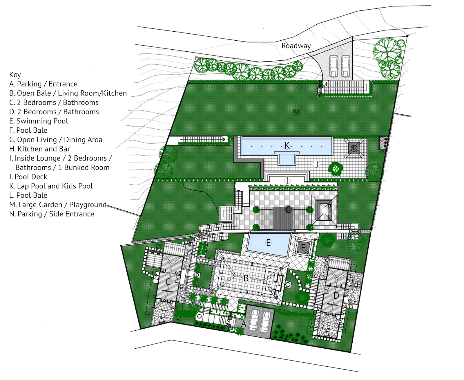 Villa Bayu Floor Plan | Jimbaran, Bali