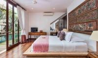 Villa Kipi Bedroom Three with TV | Seminyak, Bali