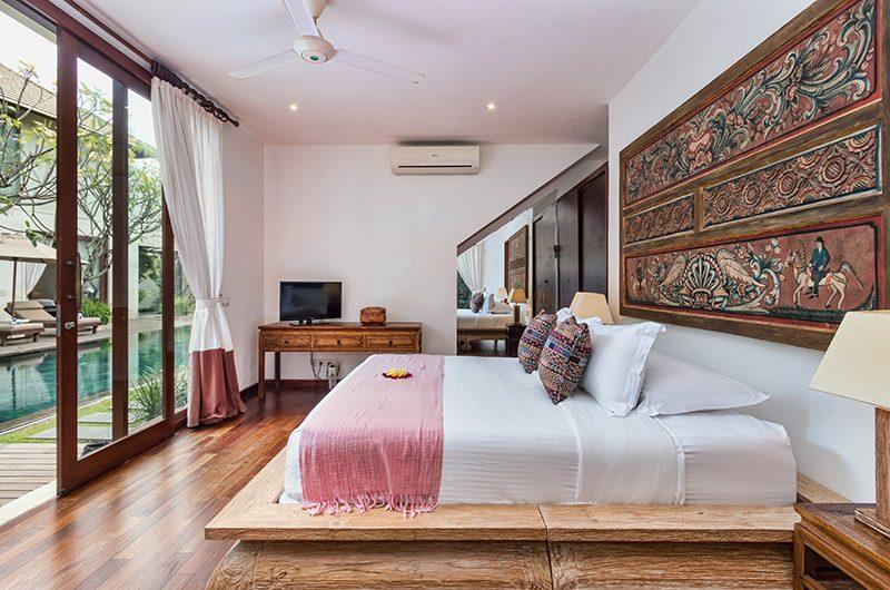 Villa Kipi Bedroom Three with TV   Seminyak, Bali