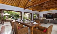 Villa Kipi Open Plan Dining Table   Seminyak, Bali