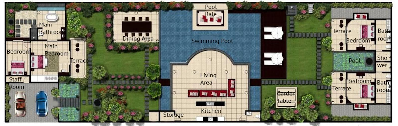 Villa Sesari Floor Plan | Seminyak, Bali