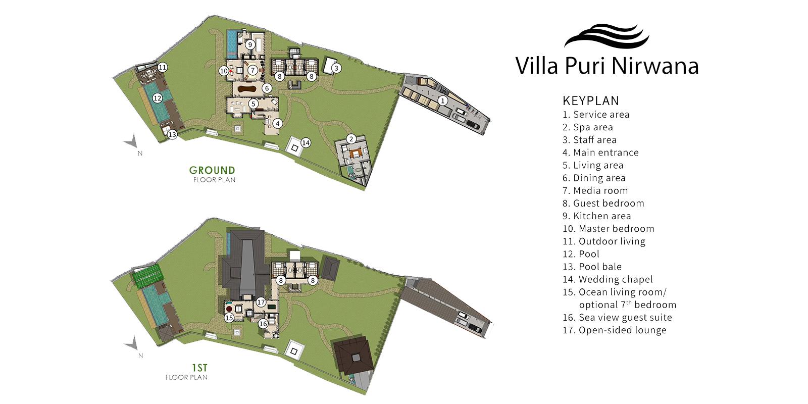 Puri Nirwana Floor Plan | Gianyar, Bali