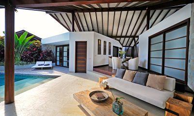 The Layar One Bedroom Villas Living Area with Pool View | Seminyak, Bali