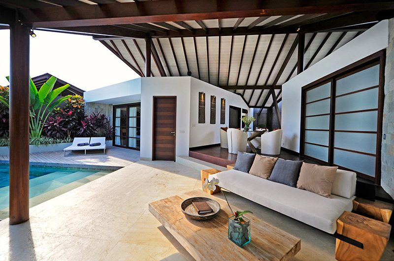 The Layar One Bedroom Villas Living Area with Pool View | Seminyak, Bali
