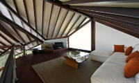 The Layar Two Bedroom Villas Up Stairs Lounge Area with TV | Seminyak, Bali