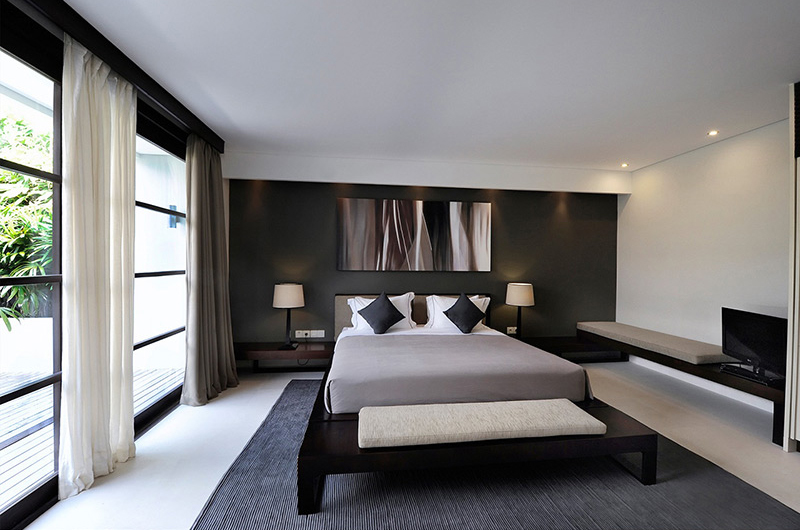 The Layar Two Bedroom Villas Bedroom with TV | Seminyak, Bali