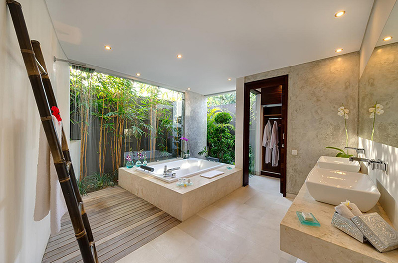 The Layar Two Bedroom Villas His and Hers Bathroom | Seminyak, Bali