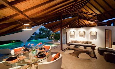 The Layar Three Bedroom Villas Living and Dining Area | Seminyak, Bali