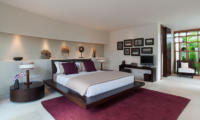 The Layar Three Bedroom Villas Bedroom with TV | Seminyak, Bali