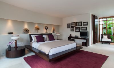 The Layar Three Bedroom Villas Bedroom with TV | Seminyak, Bali