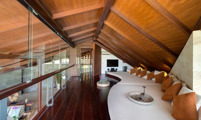 The Layar Four Bedroom Villas Up Stairs TV and Lounge Area | Seminyak, Bali