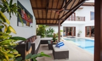 Villa Origami Lounge Area   Seminyak, Bali
