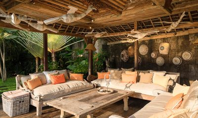 Villa Zelie Lounge Area with Garden View | Canggu, Bali