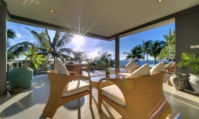 Malimbu Cliff Villa Open Plan Living Area I Lombok, Indonesia