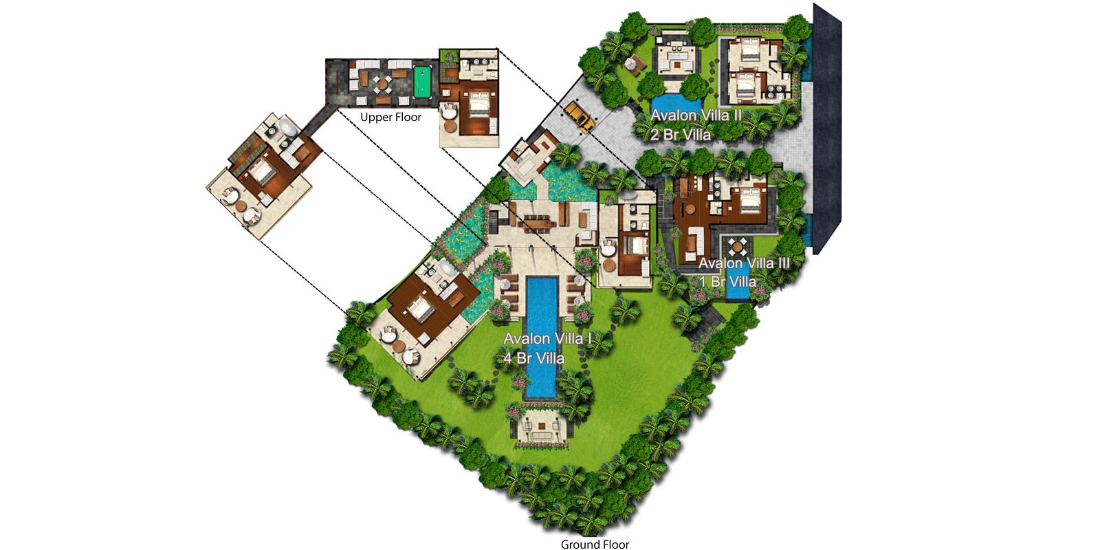 Villa Avalon Bali Floorplan | Canggu, Bali
