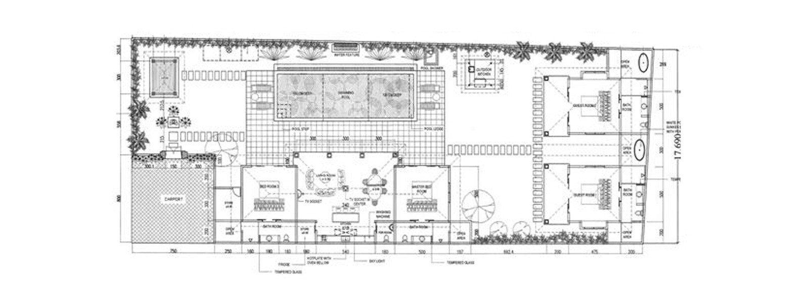 Villa Gembira Floorplan | Seminyak, Bali