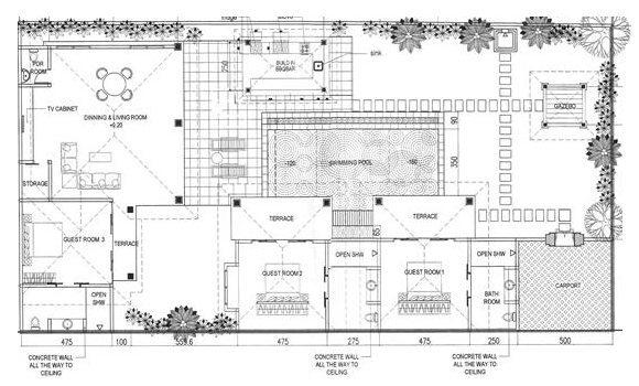 Villa Rama Floorplan | Seminyak, Bali
