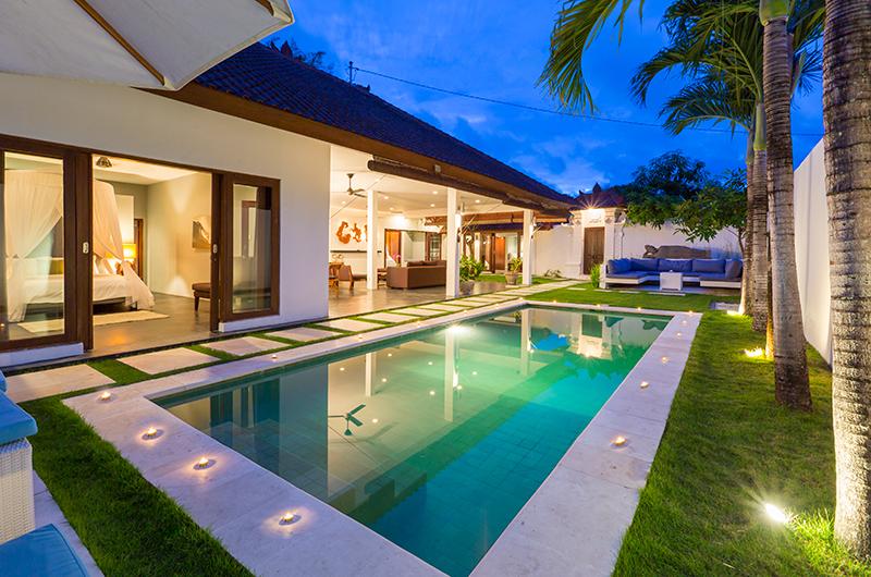 Villa Damai Lestari Night View Pool | Seminyak, Bali