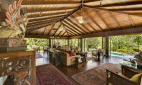 Villa East Indies Indoor Living Area with Pool View | Pererenan, Bali