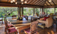 Villa East Indies Indoor Living and Dining Area with Pool View | Pererenan, Bali