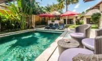 Villa Gembira Pool Side Seating | Seminyak, Bali