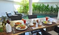Villa La Sirena Pool Side Dining Area | Seminyak, Bali
