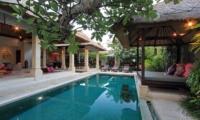 Villa Maju Pool Side Living Area   Seminyak, Bali