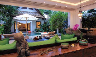 Villa Novaku Pool Side Living and Dining Area   Legian, Bali