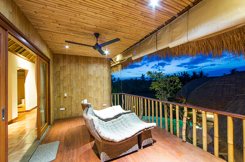 Villa Omah Padi Balcony with Seating | Ubud, Bali