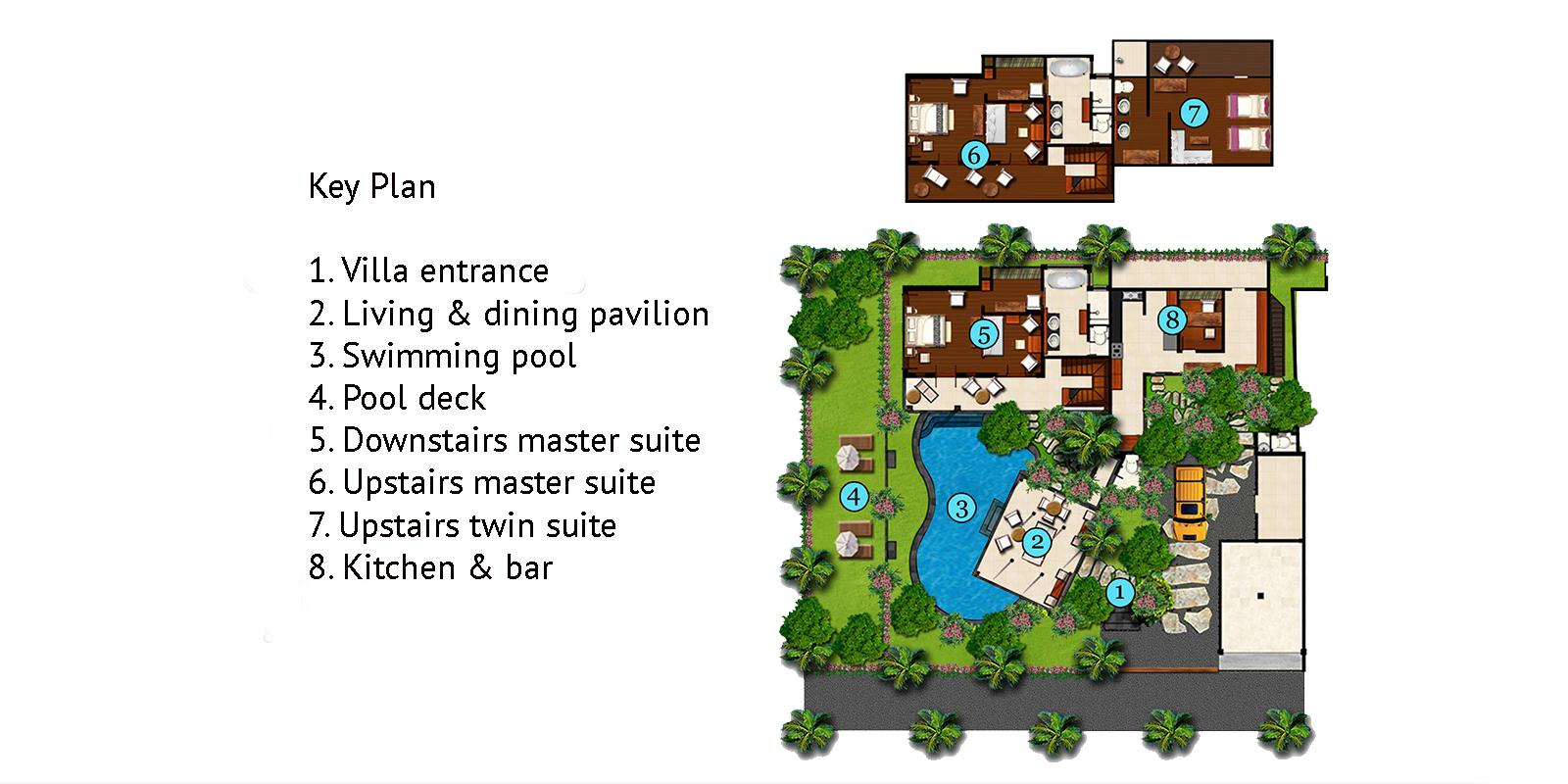 Villa Oost Indies Floor Plan | Seminyak, Bali
