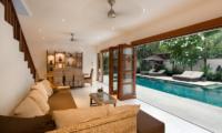 Villa Puri Temple Living Area with Pool View | Canggu, Bali