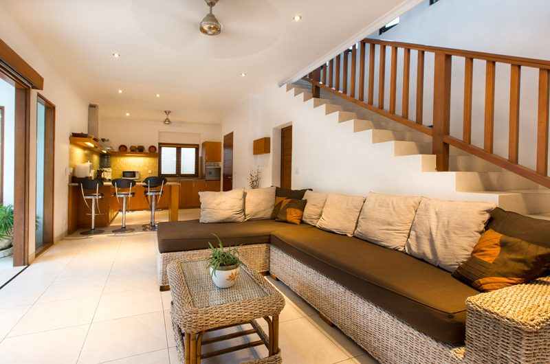 Villa Puri Temple Living Area with Up Stairs | Canggu, Bali