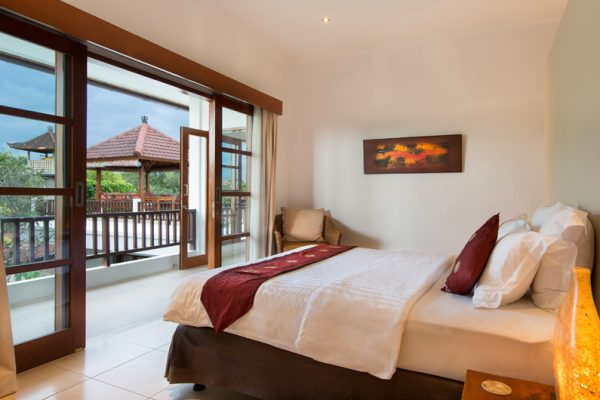 Villa Puri Temple Spacious Bedroom and Balcony | Canggu, Bali