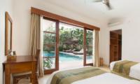 Villa Puri Temple Twin Bedroom with Pool View | Canggu, Bali