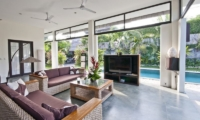Villa Surga Pool Side Living Area   Seminyak, Bali