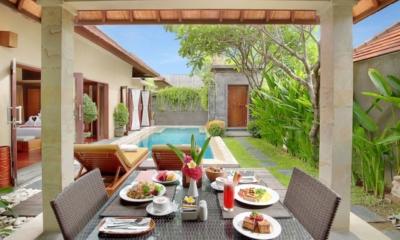 Nyuh Bali Villas Outside Dining Area | Seminyak, Bali