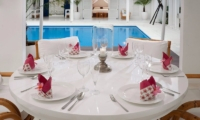 Villa Lulito Pool Side Dining Area | Seminyak, Bali