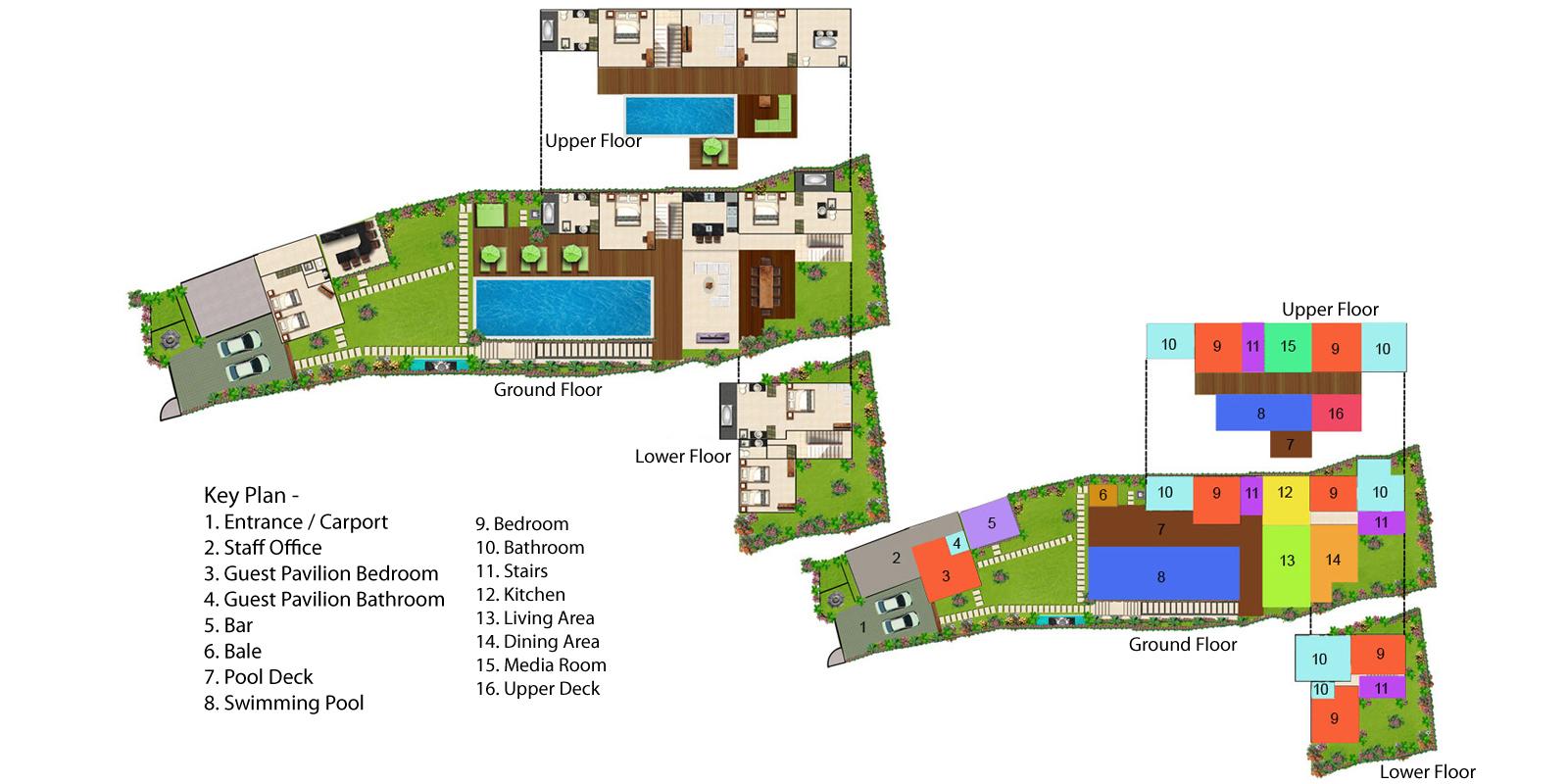 Villa Luwih Floorplan One   Canggu, Bali