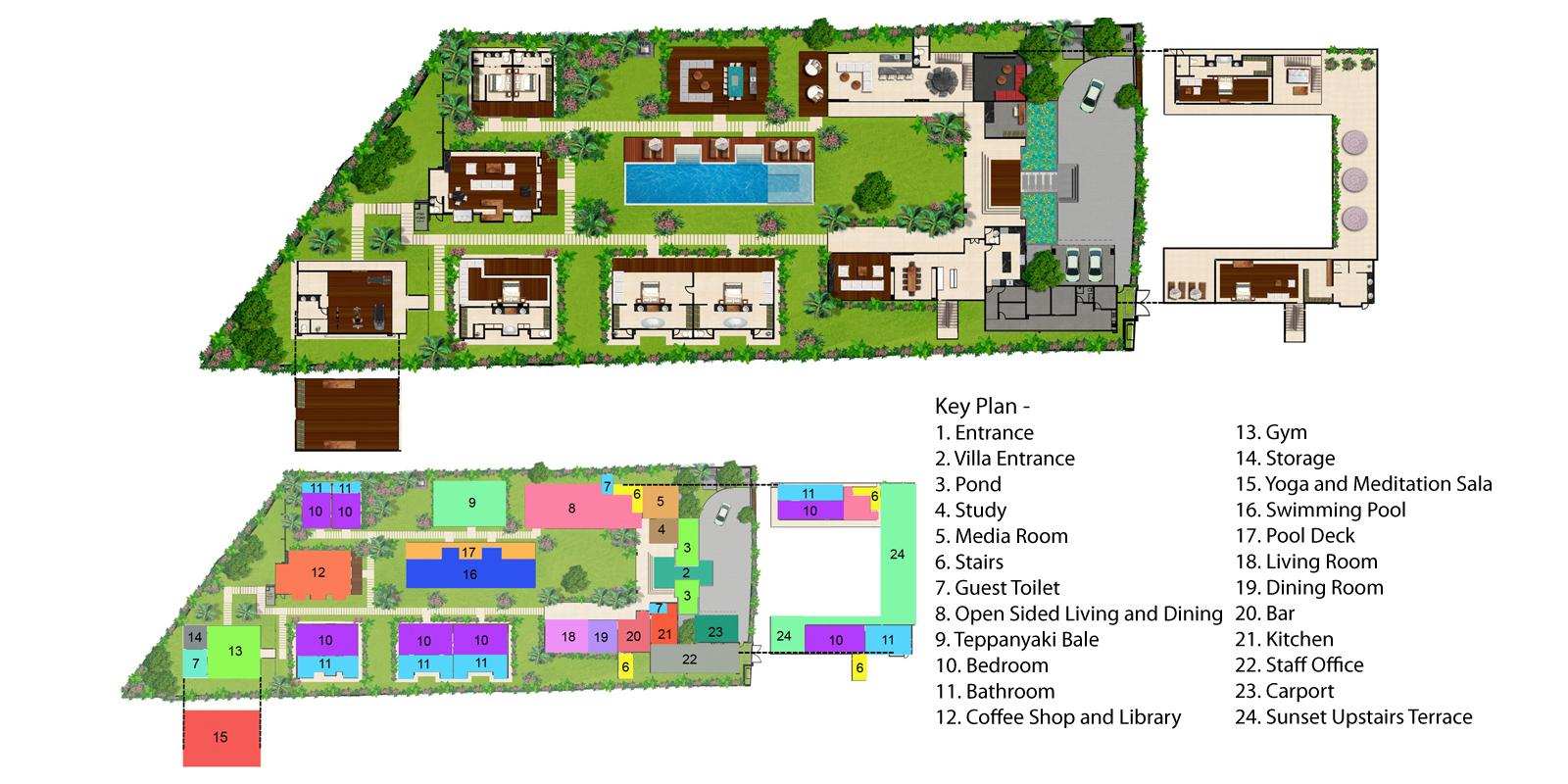 Villa Malaathina Floorplan One | Umalas, Bali