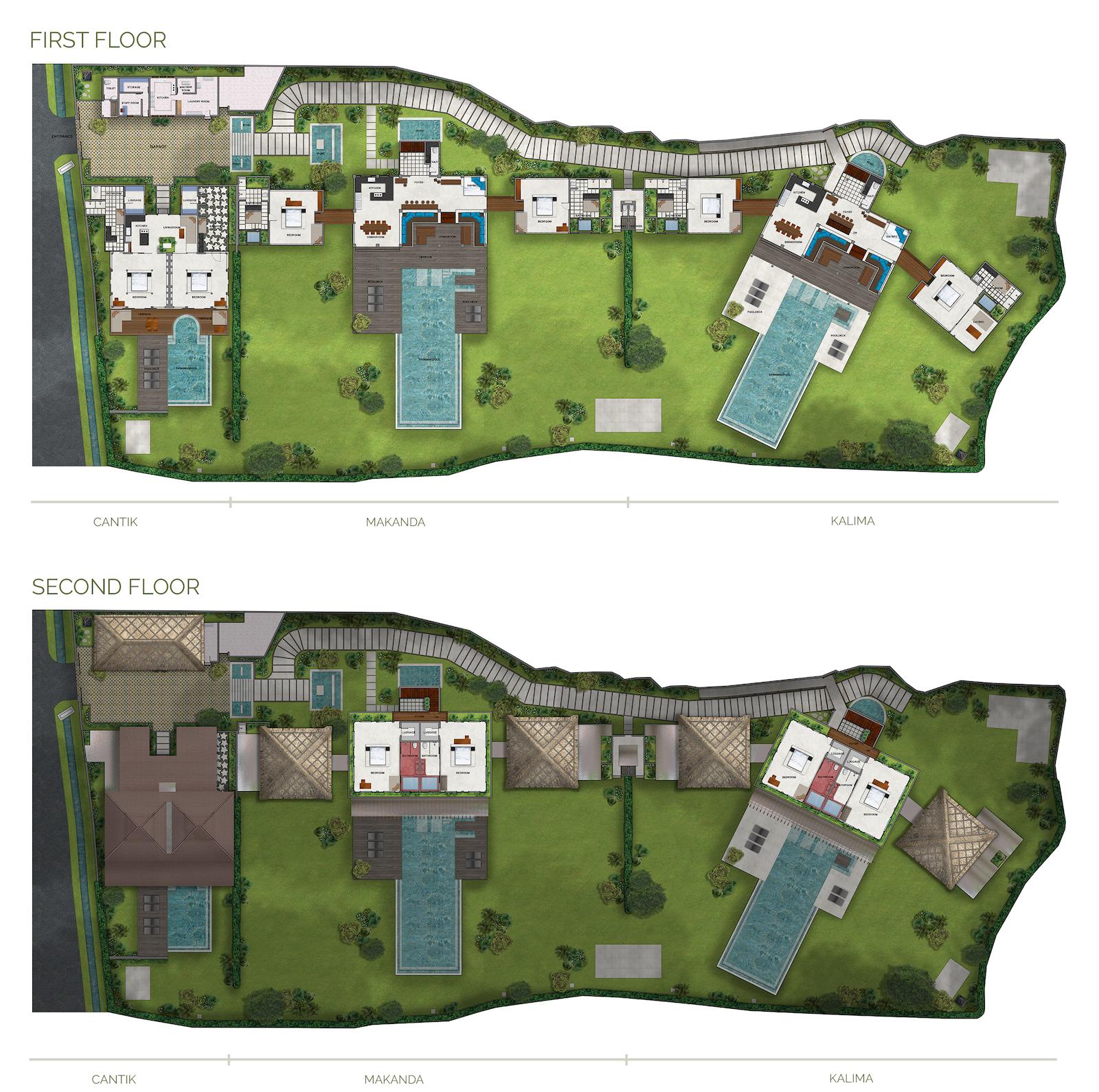 Shalimar Villas Floor Plan | Seseh, Bali