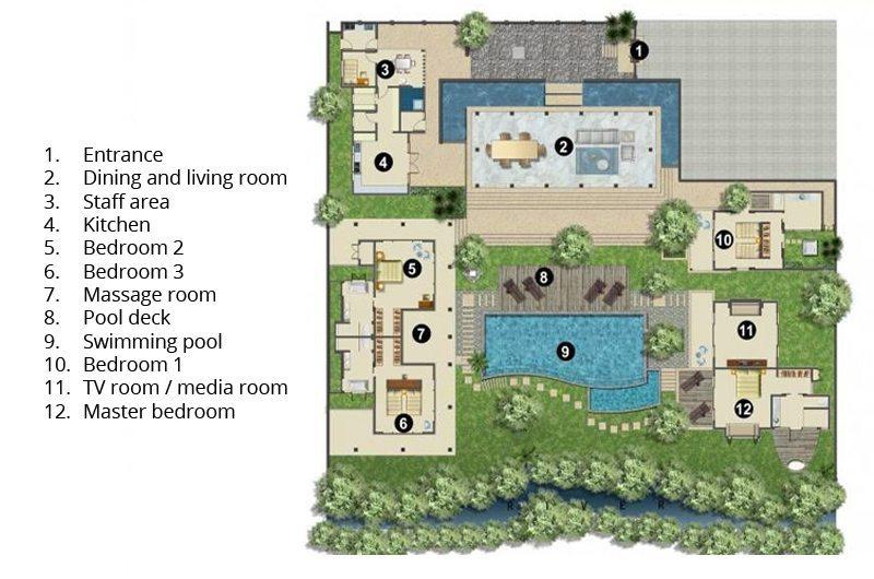 Villa Bunga Pangi Floorplan | Canggu, Bali