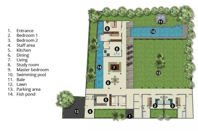 Villa Cocogroove Floorplan | Seminyak, Bali