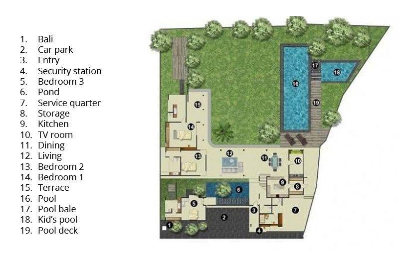 Villa Kavya Floorplan | Canggu, Bali